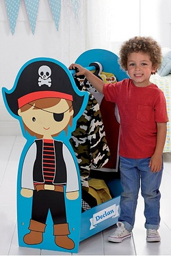 Personalised Pirate Dressing Up Rail