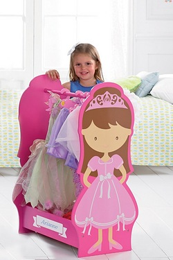 Personalised Princess Dressing Up Rail