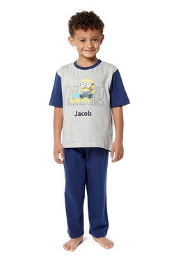 Boys Personalised Minions Pyjamas