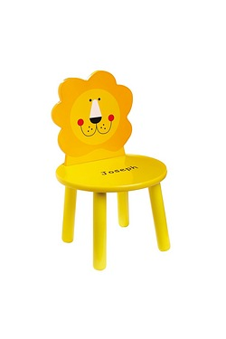 Personalised Wooden Chair - Lion
