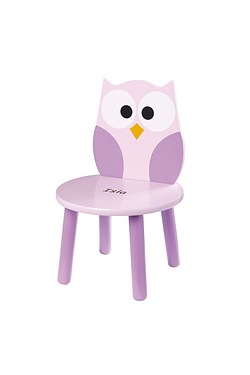 Personalised Wooden Chair - Owl