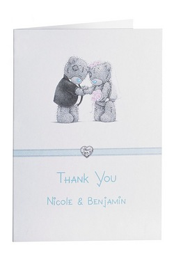 Personalised Me to You Thank You Cards