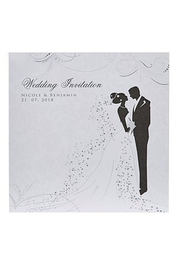 Personalised Silhouette Wedding Inv...