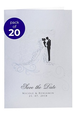 Personalised Silhouette Save The Dates