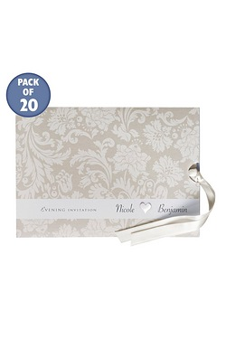 Cream Personalised Damask Evening I...