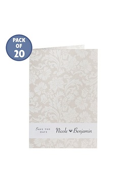 Cream Personalised Damask Save The ...