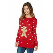 Bravesoul Gingerbread Jumper - Red