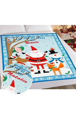 Personalised Christmas Blanket