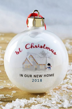 Personalised Our New Home Bauble