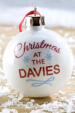 Personalised Christmas At... Bauble