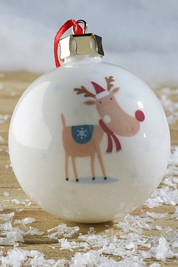 Personalised Reindeer Bauble