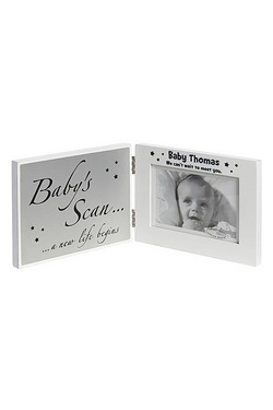 Personalised Double Baby Scan Frame