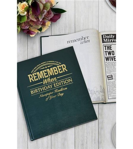 Image for Personalised Newspaper Book - Birthday Edition from ace