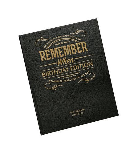 Image for Personalised Newspaper Book - Luxury Birthday Edition from ace