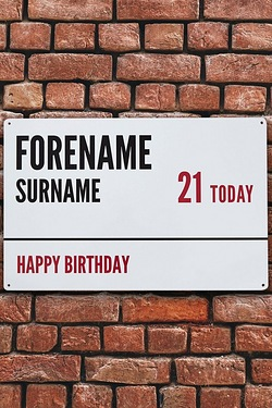 Personalised Birthday Street Sign