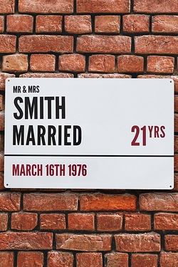 Personalised Anniversary Street Sign