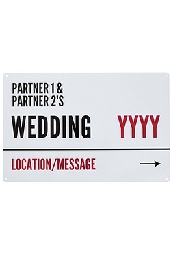 Wedding Street Sign