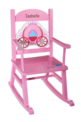 Image For Personalised Wooden Rocking Chair   Pink From Studio