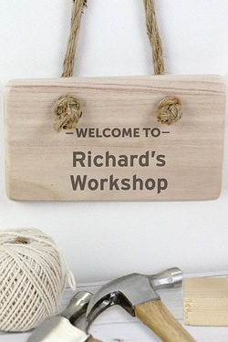 Personalised Welcome Wooden Sign