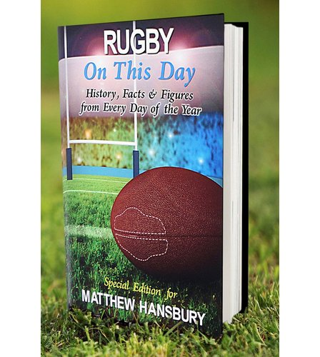 Image for Personalised Rugby On This Day Book from ace