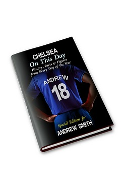 Personalised Chelsea On This Day Book