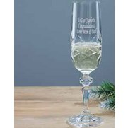 Personalised Crystal Flute Glass
