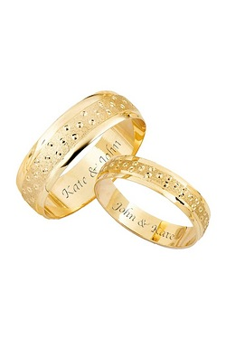 Champagne Bubbles Wedding Ring Offer