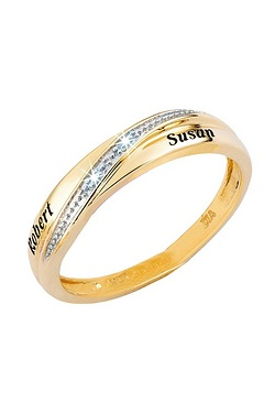 Ladies Diamond Accent Wedding Ring