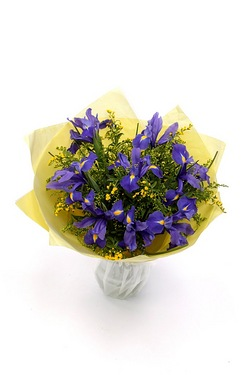 Iris And Solidaster Bouquet