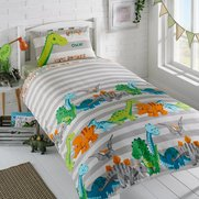Personalised Natural Dino Duvet Set