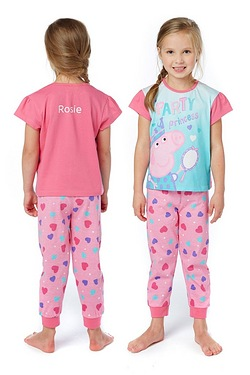 Girls Personalised Peppa Pig Pyjamas