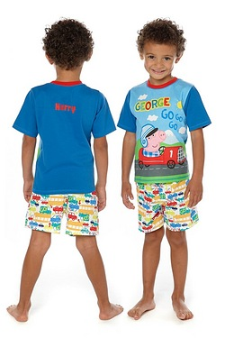 Boys Personalised George Pig Short ...