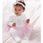 Baby Girls Mouse Sleepsuit With Tut...