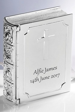 Engraved Silver Bible