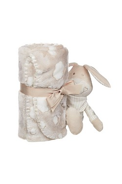 Personalised Rabbit and Blanket Set