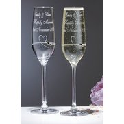 Personalised Pair Of Diamante Flutes