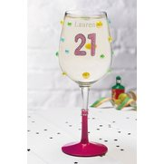 21st Personalised Wine Glass