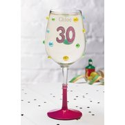 30th Personalised Wine Glass