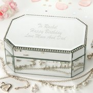 Personalised Mirror Jewellery Box
