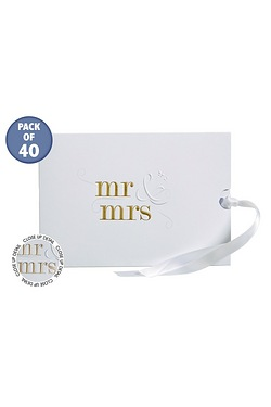 Personalised Mr & Mrs Foiled Gold W...
