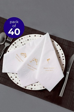 40 Personalised Rings Serviettes