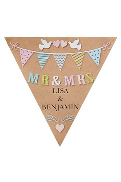 Personalised Mr & Mrs Doves Bunting