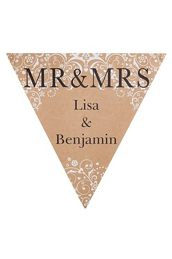 Personalised Mr & Mrs Damask Bunting