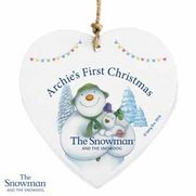 Snowman And The Snowdog Heart Decor...