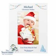 Snowman And The Snowdog Photo Frame