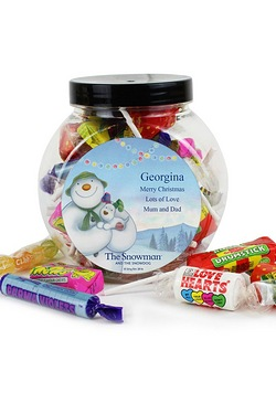 Snowman And The Snowdog Sweet Jar