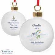 Snowman And The Snowdog Flying Bauble