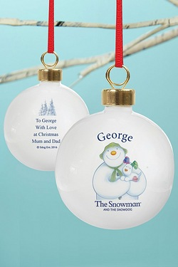 Snowman And The Snowdog Bauble