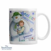 Snowman And The Snowdog Blue Mug