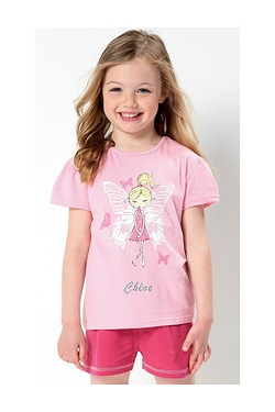 Girls Personalised Fairy Short Pyjamas